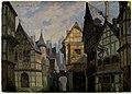 Un piazzale, a destra l'esterno dell'Osteria della Giarrettiera, bozzetto di Adolf Hohenstein per Falstaff (1893) - Archivio Storico Ricordi ICON000166.jpg
