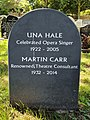 Una Hale and Martin Carr Gravestone.jpg