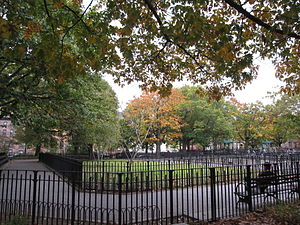 Clinton Hill, Brooklyn - Underwood Park was the site of the mansion of typewriter manufacturer John Thomas Underwood.