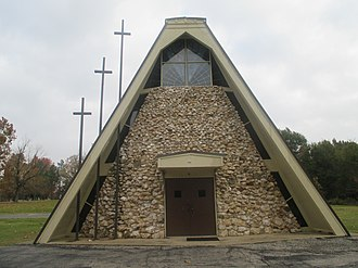 Tom, Oklahoma - Tom Baptist Church is shaped in the form of an Indian tepee.