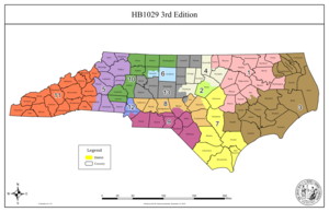 United States Congressional Districts in North Carolina, 2021 - 2023.tif