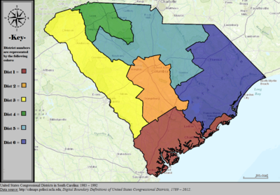 United States Congressional Districts in South Carolina, 1983 – 1992.tif