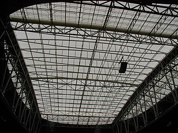 The roof of State Farm Stadium. University of Phoenix Stadium roof.jpg