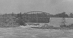 Upper Twin Falls Bridge - Upper Twin Falls Bridge in 1911