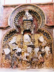 Statues in the Cathedral of Saint Martin, Utrecht, defaced by 16th century iconoclasm