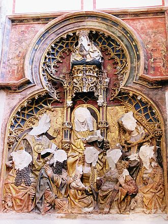 Beeldenstorm - Damaged relief statues in the Cathedral of Saint Martin, Utrecht.