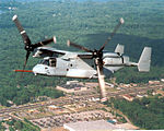 V-22 Osprey flies over Lexington Park.JPG
