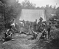 VCJC-kamp te Oirschot. Foto met tent op achtergrond, Bestanddeelnr 902-8808.jpg
