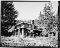 VIEW LOOKING NORTHEAST - H. P. Dyer House, 16055 Sanborn Road, Saratoga, Santa Clara County, CA HABS CAL,43-SARA,4-1.tif