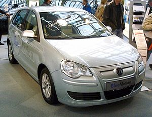 BlueMotion - A BlueMotion Volkswagen Polo.  Note the more streamlined radiator grille