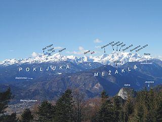 Julian Alps mountain range