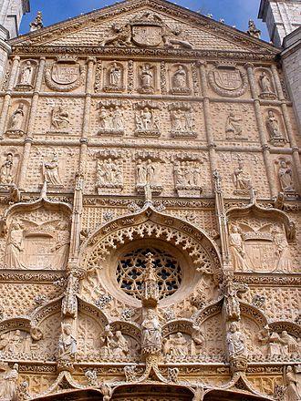 Iglesia de San Pablo, Valladolid - Detail of Upper Facade.