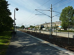 Vallentuna station på Roslagbanen.