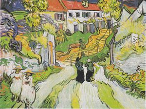 Death of Vincent van Gogh - Village Street in Auvers (late May, 1890)