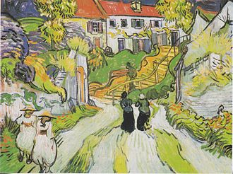 Death of Vincent van Gogh - Village Street in Auvers (late May 1890)