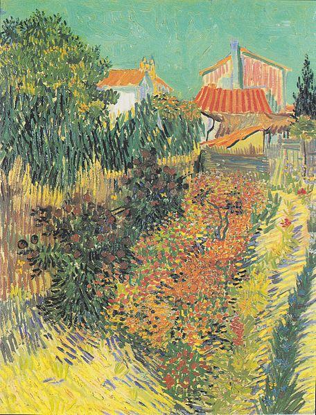 File:Van Gogh - Mittagsstunde oder Garten hinter einem Haus.jpeg