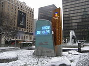 The clock counting down to the opening of the Olympics in downtown Vancouver