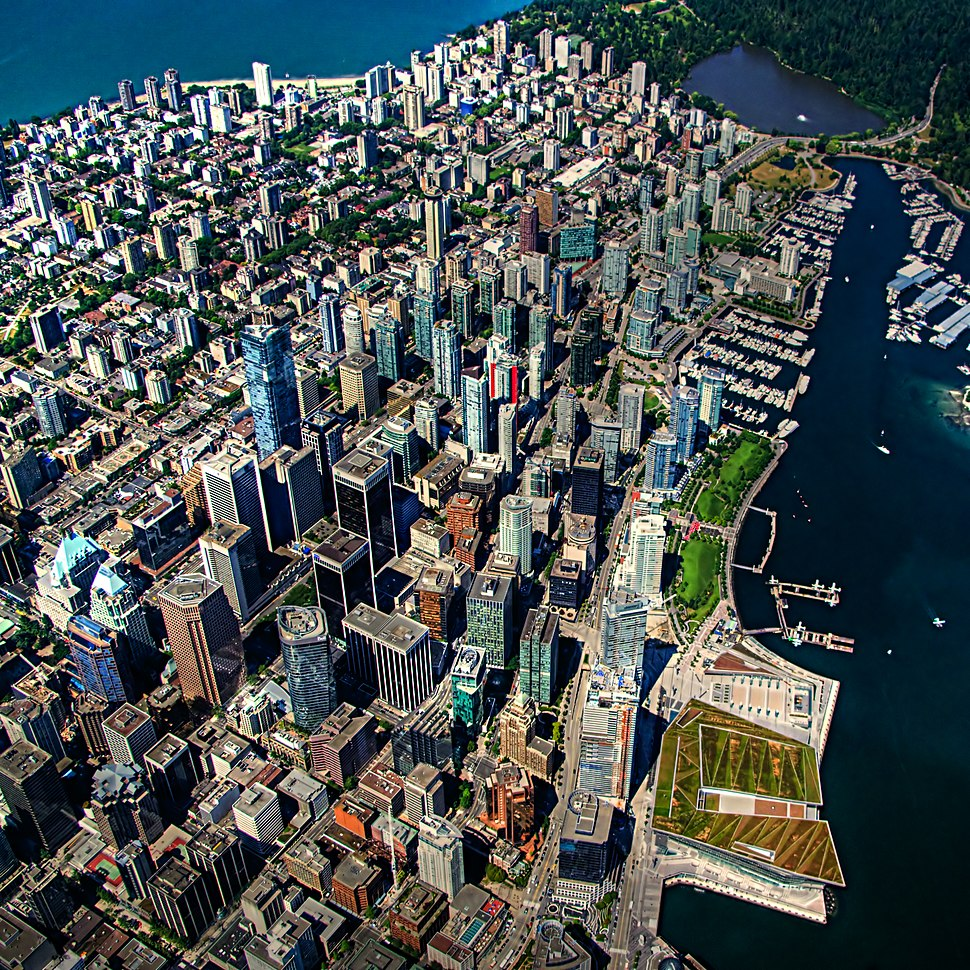 Vancouver aerial view