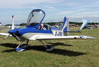 Aircraft canopy - The raised canopy of a Van's Aircraft RV-7