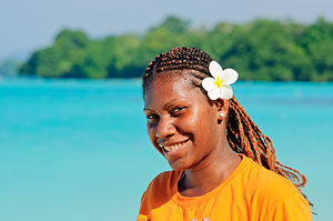 Women in Vanuatu - A portrait of a young Vanuatuan woman, September 2012.