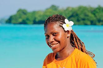 Women in Vanuatu - A portrait of a young Vanuatuan woman, September 2012.