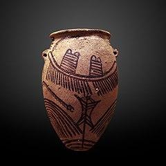 Vase with ship-E 11425