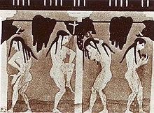 Atleti sotto la doccia in una pittura vascolare greca (ca. VI sec. a.C.)