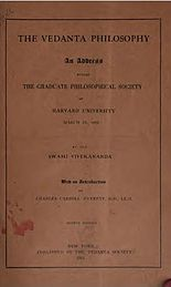 Vedanta Philosophy An address before the Graduate Philosophical Society 1901 cover page