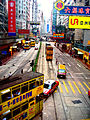 Vehicles on Percival Street and Hennessey Road, Causeway Bay, Hong Kong.jpg