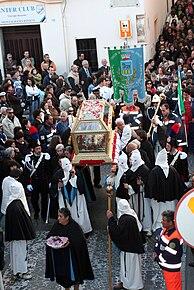 La processione del venerdì santo.