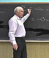 Victor Fadin Lecturing QED in BINP 1 June 2014.jpg