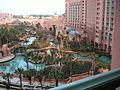 View of Aquarium and Pools from Royal Tower Rooms Atlantis 1.jpg