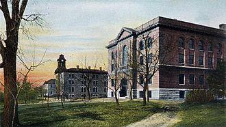 Gustavus Adolphus College - View of the campus c. 1905