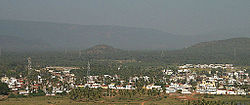 view of Nakkapalli town from Upamaka temple