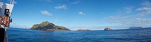 View of Nightingale and Inaccessible islands from the deck of National Geographic Explorer.jpg