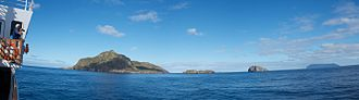 Inaccessible Island - Image: View of Nightingale and Inaccessible islands from the deck of National Geographic Explorer