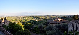 View of the Tuscan Hills from the San Gimignano (Siena).jpg