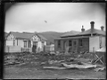 View of the remains of the Temperance Hall, Petone, destroyed by fire. ATLIB 222850.png