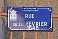 Villeurbanne - Rue du 24-Février-1848 (plaque).jpg