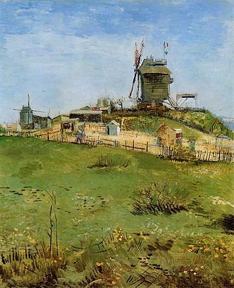 Montmartre - The Moulin de la Galette, painted by Vincent Van Gogh in 1887 (Carnegie Museum of Art)