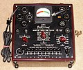 Vintage National Radio Institute (NRI) Model 66 Tube Tester By Triplett Elec. Instr. Co., Metal Cabinet, Made In USA, Circa Late 1940s (15668593645).jpg