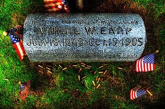 Virgil Earp - Virgil Earp -- Headstone located in River View Cemetery, Portland, Oregon 03/2015 M.O.B.