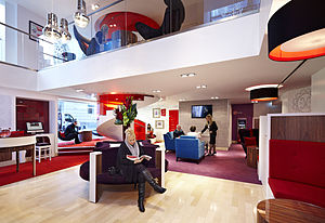 Virgin Money UK - Interior of Virgin Money's Manchester lounge