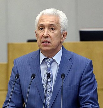 Head of the Republic of Dagestan - Image: Vladimir Abdualievich Vasiliev, April 2014 (cropped)