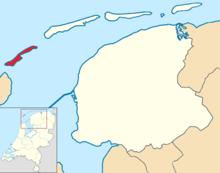 Vlieland locator map municipality NL 2018.png