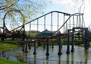 Vortex (Canadas Wonderland) suspended roller coaster at Canadas Wonderland