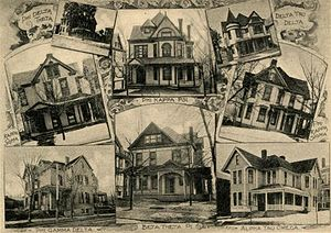 Greek organizations at Washington & Jefferson College - Image: W&J frat houses 1902