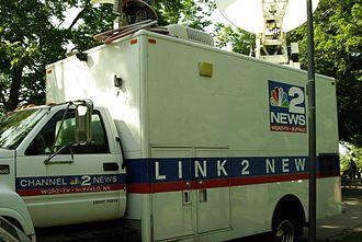 WGRZ - WGRZ satellite truck.
