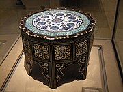 WLA vanda Ottoman marquetry and tile-top table 2
