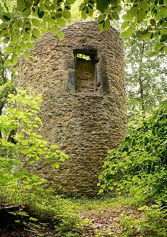 Lappwald - The 1st Walbecker Warte, a watchtower on the Helmstedt dyke (Landwehr)